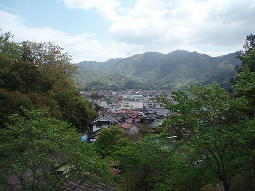 山の上から白木町