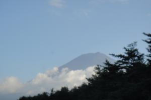 帰る頃に富士山