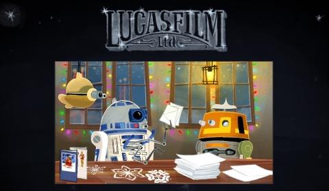 ルーカス・フィルムのクリスマスカード