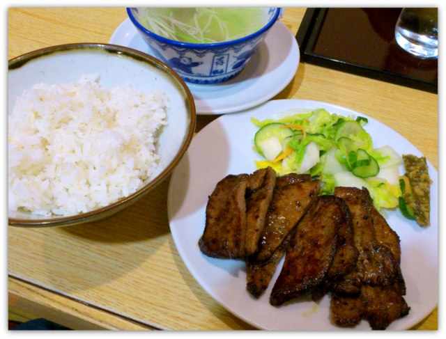 仙台 牛たん 味の牛たん喜助 牛たん炭火焼定食 たれ味 牛たんシチューセット JR仙台駅店