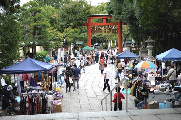 松尾大社とフリーマーケット