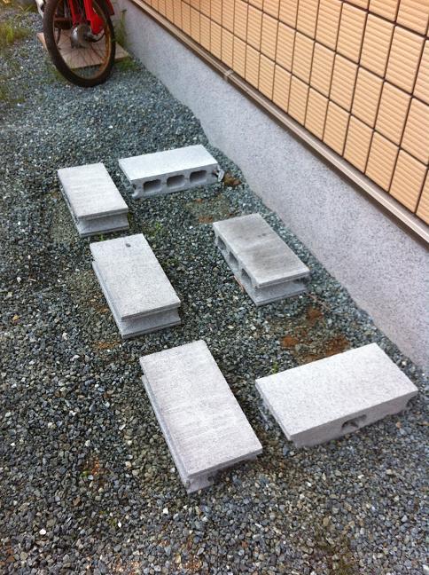 ヨド物置エスモ(基礎のブロック)