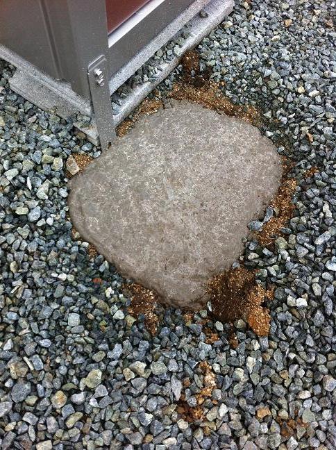 乾燥したコンクリート