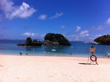 伊計島のきれいなビーチ