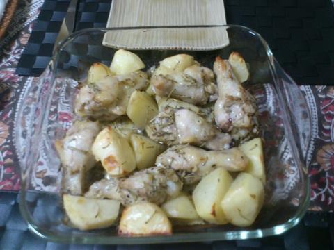 チキンとポテトのロースト