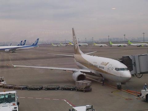 金色飛行機