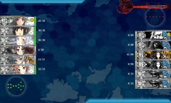 第一次渾作戦 ボス戦2戦目夜戦結果