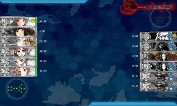 第一次渾作戦 ボス戦3戦目夜戦結果