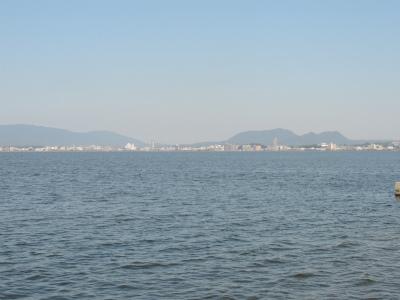 松江の街(宍道湖より)4