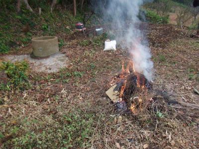 枯れ木焼き