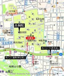 高桐院の地図2