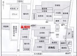 高桐院の地図