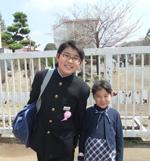 お兄ちゃん入学式