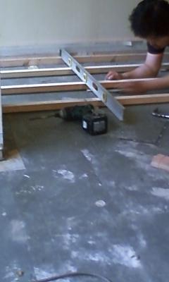 麻布台 床木工事2