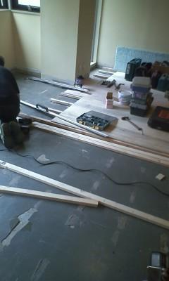 麻布台 床木工事8