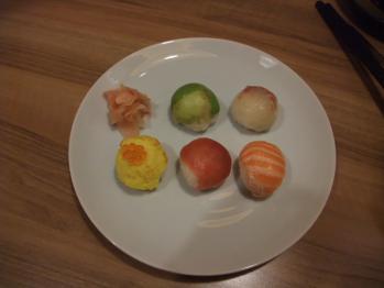 隊士の手まり寿司
