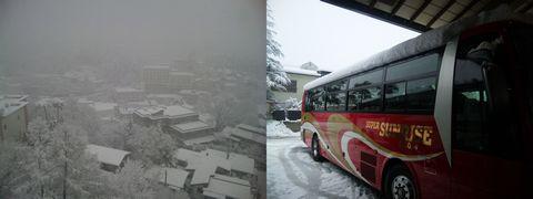 季節はずれの雪 草津温泉 20130421