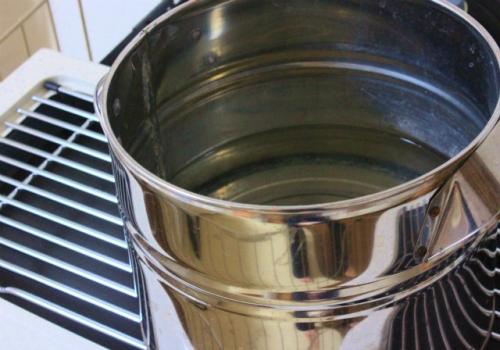 蒸発皿もセット完了