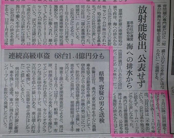朝日新聞2月27日