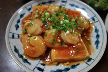 豆腐入りエビチリ1128