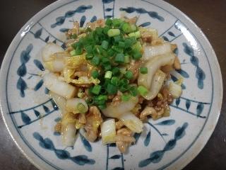 豚と白菜のオイスターソース炒め0528