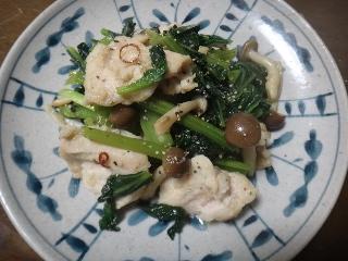 鶏むね肉と小松菜の塩麹炒め0606