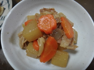 大根と豚バラの甘辛煮0606