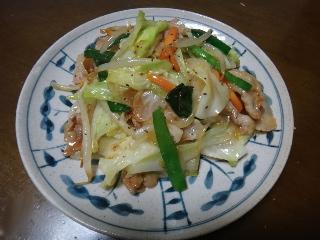肉野菜炒め0617