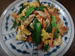 豚肉の卵炒め0618