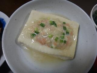 エビ詰め豆腐のレンジ蒸し