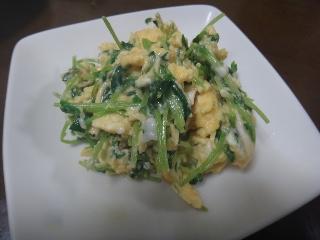 豆苗の卵炒め0701