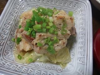 豚バラとキャベツの蒸し煮0706