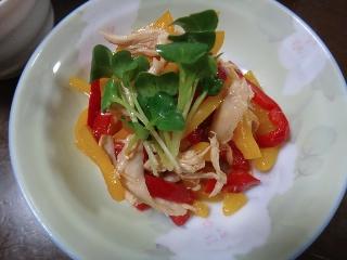ささみとパプリカの中華サラダ