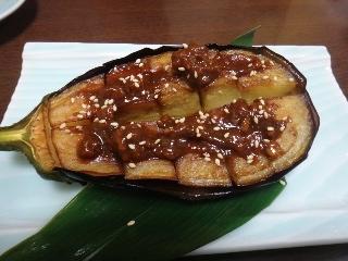 米茄子の肉みそ焼き