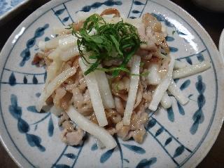 豚肉と塩もみ大根の炒め物0731