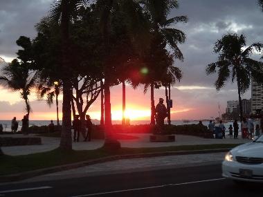 ハワイ夕日1