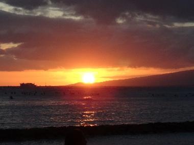 ハワイ夕日3