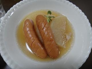 大根とウインナーの煮物
