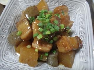 豚バラと大根の煮物0903