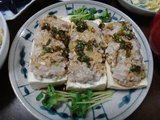 肉詰め豆腐のレンジ蒸し1022