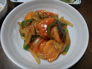鮭の甘酢炒め