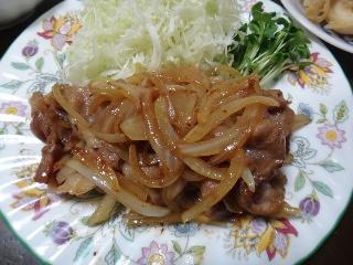 豚の生姜焼き1031