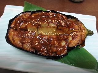 米茄子の肉みそ焼き1103