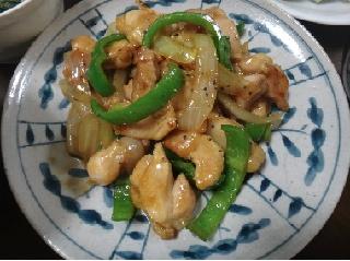 鶏肉のオイスターソース炒め1110