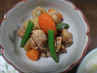 鶏肉とレンコンの煮物1122
