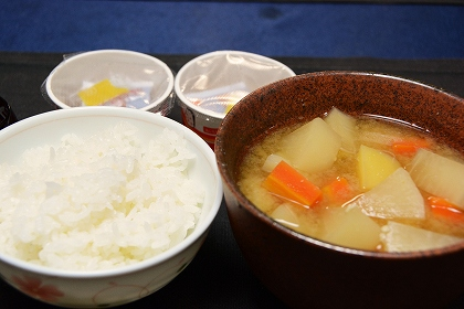 野菜の味噌汁20131126