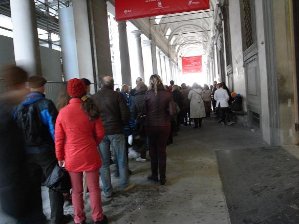 fila al uffizi