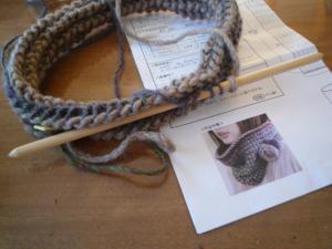 Wフックアフガン編み