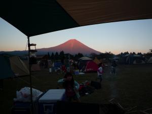 夕日の赤富士