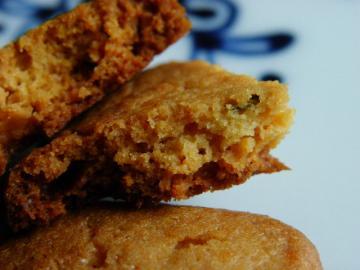 レモンとローズマリーのクッキー 断面